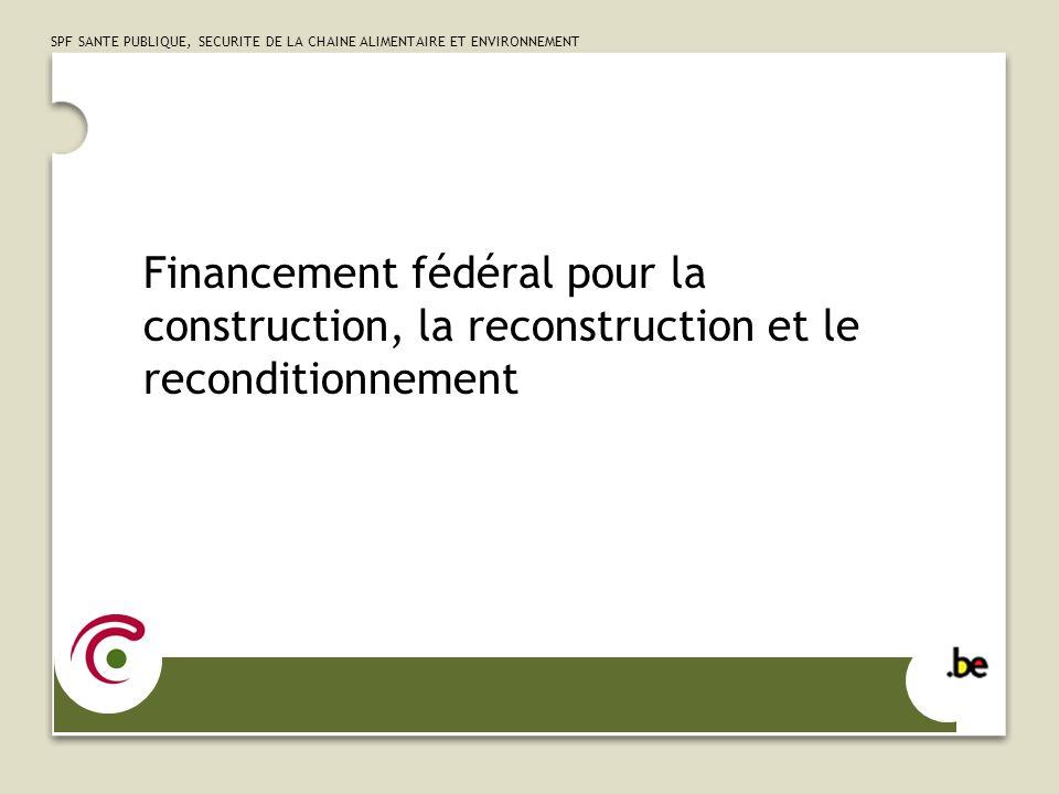 Financement fédéral pour la construction, la reconstruction et le reconditionnement