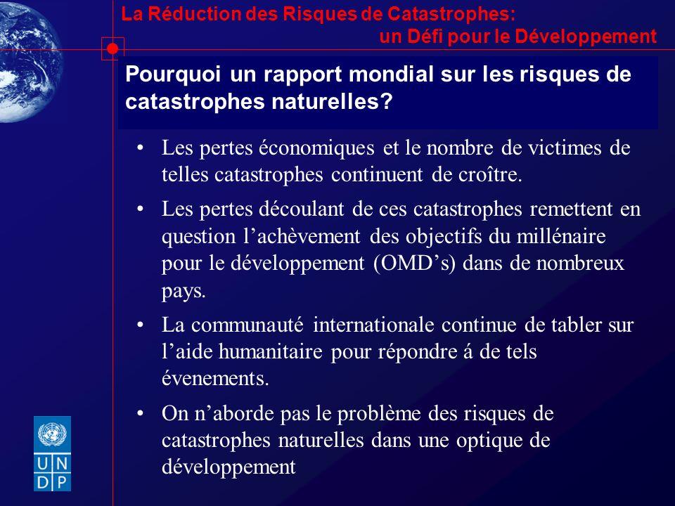 Pourquoi un rapport mondial sur les risques de catastrophes naturelles