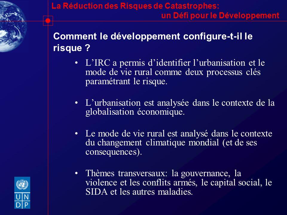 Comment le développement configure-t-il le risque