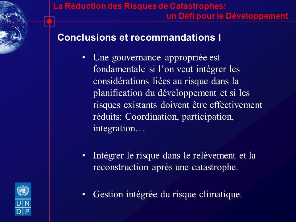 Conclusions et recommandations I