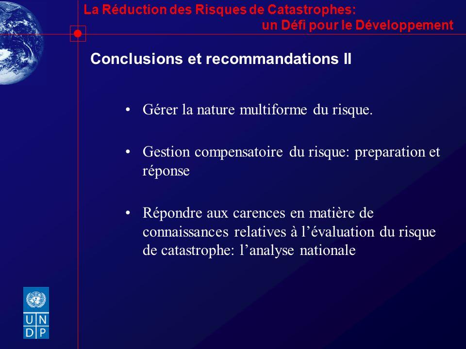 Conclusions et recommandations II
