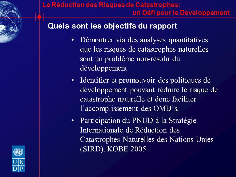 Quels sont les objectifs du rapport