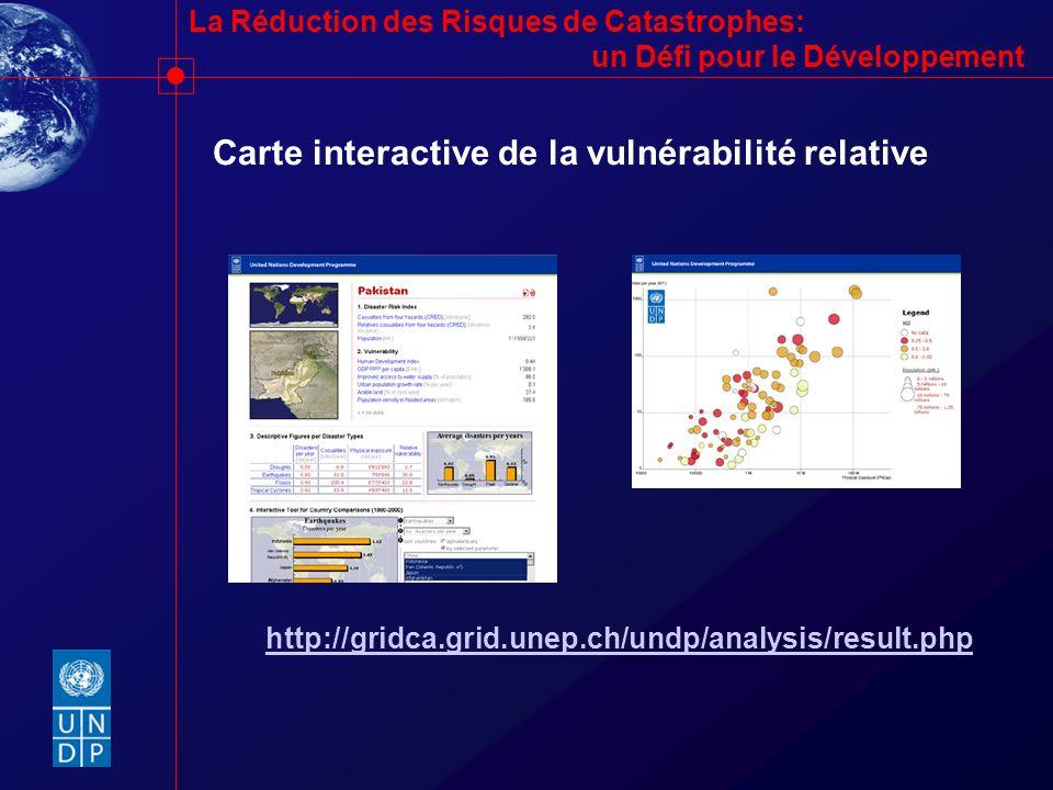 Carte interactive de la vulnérabilité relative