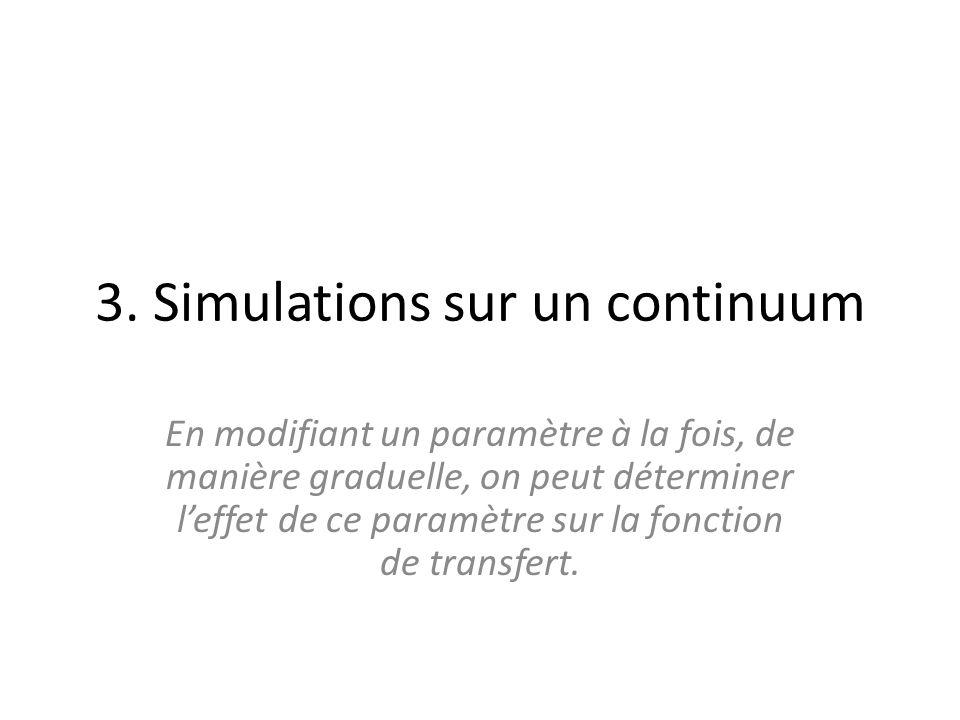 3. Simulations sur un continuum