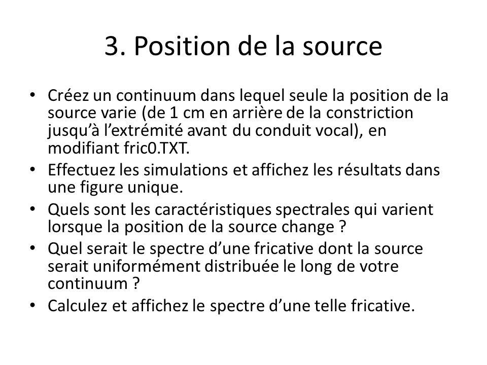 3. Position de la source