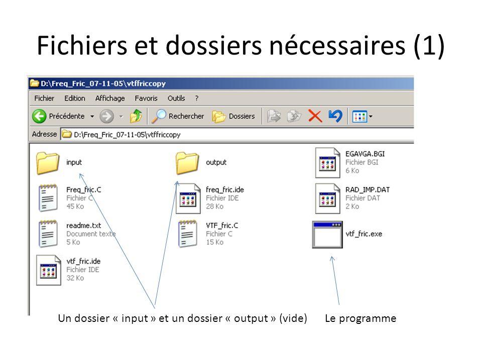 Fichiers et dossiers nécessaires (1)