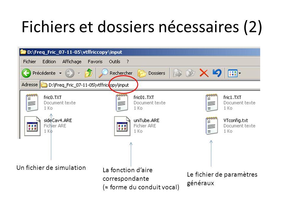 Fichiers et dossiers nécessaires (2)