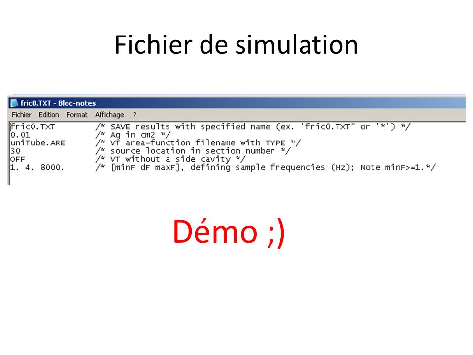 Fichier de simulation Démo ;)