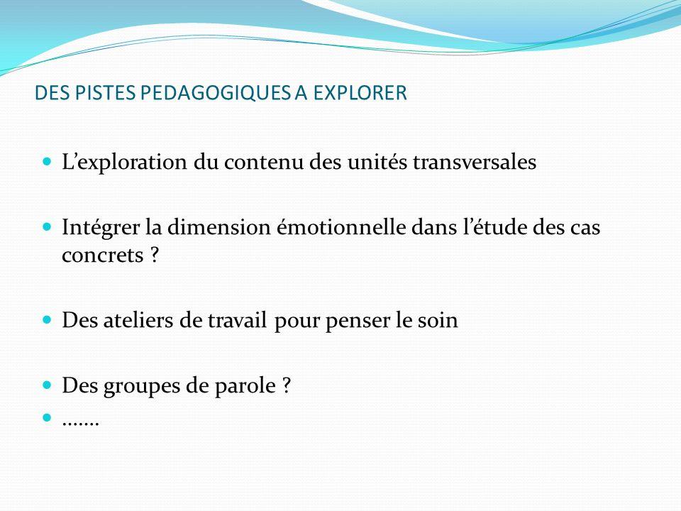 DES PISTES PEDAGOGIQUES A EXPLORER