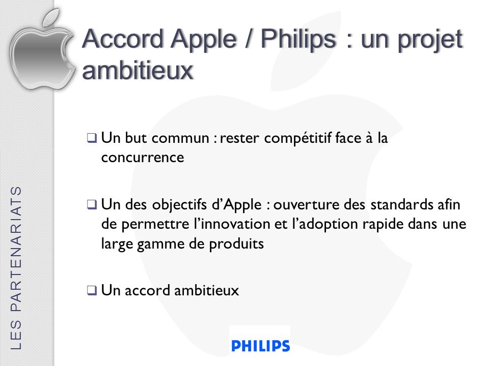 Accord Apple / Philips : un projet ambitieux