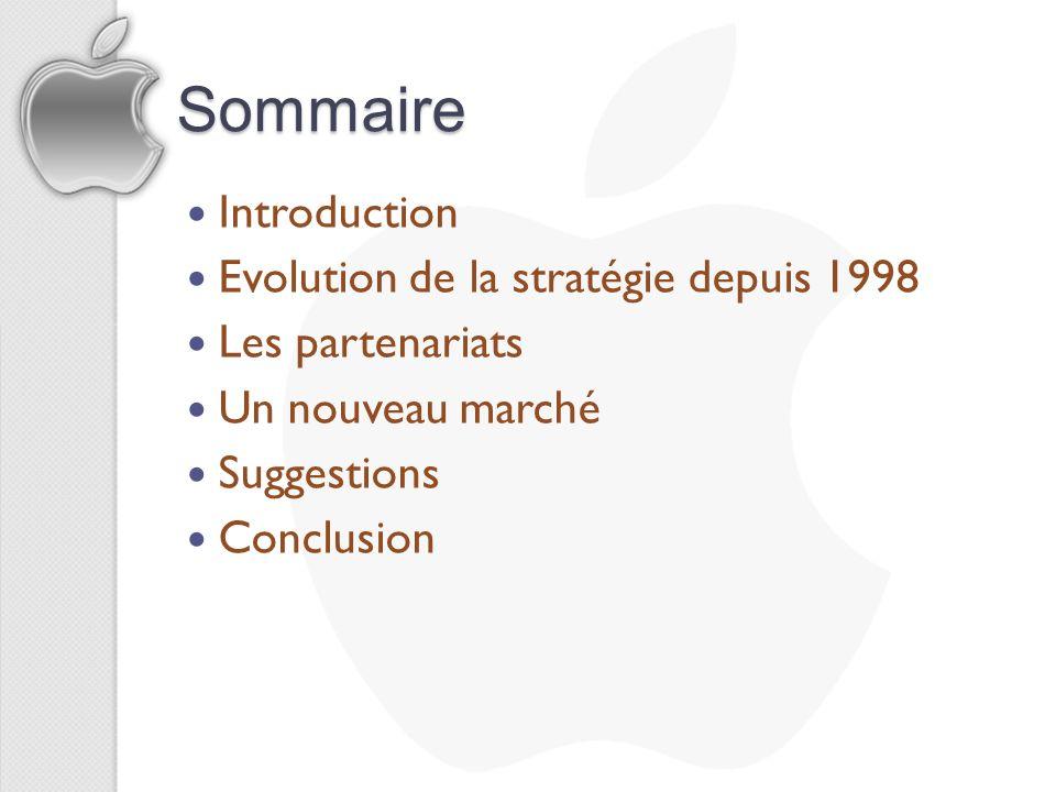 Sommaire Introduction Evolution de la stratégie depuis 1998