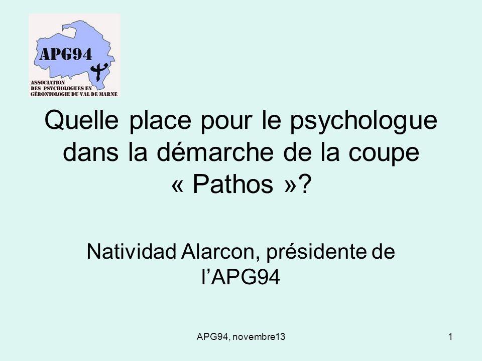 Natividad Alarcon, présidente de l'APG94
