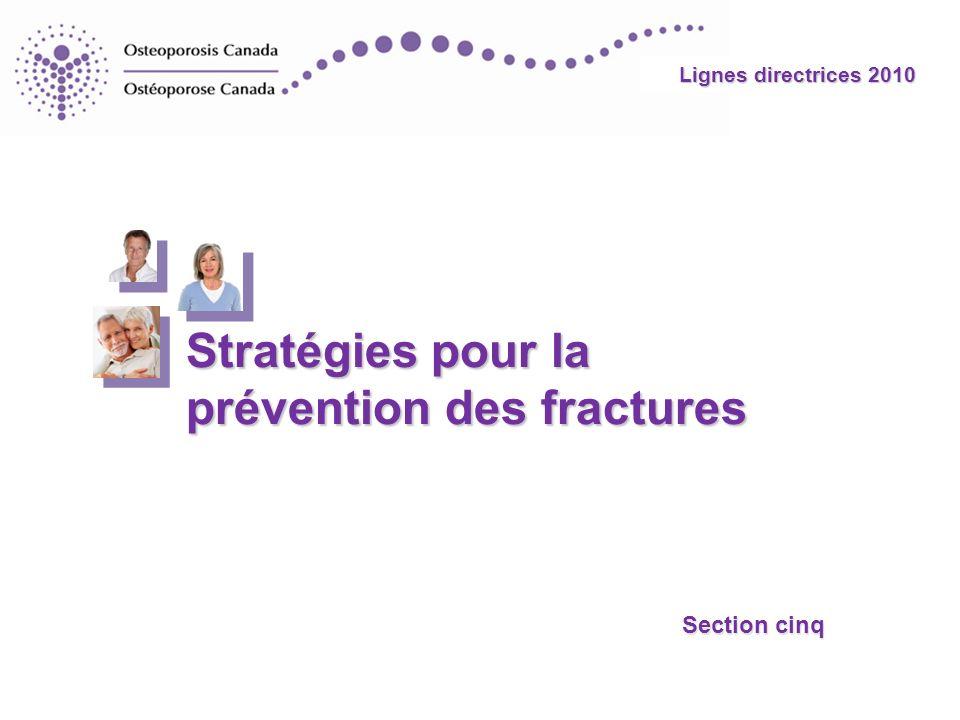 Stratégies pour la prévention des fractures