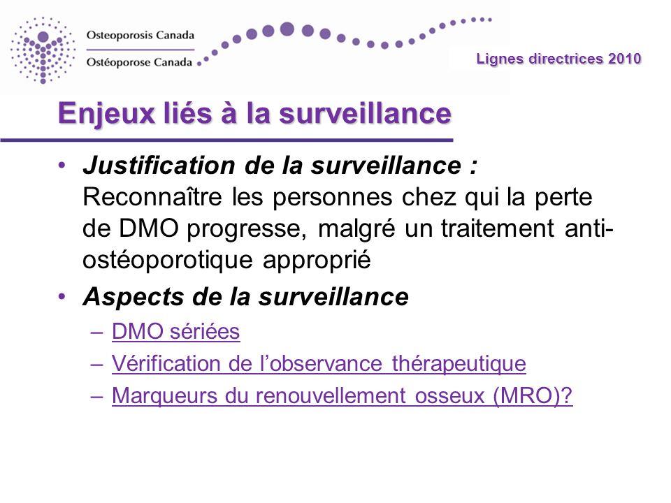 Enjeux liés à la surveillance
