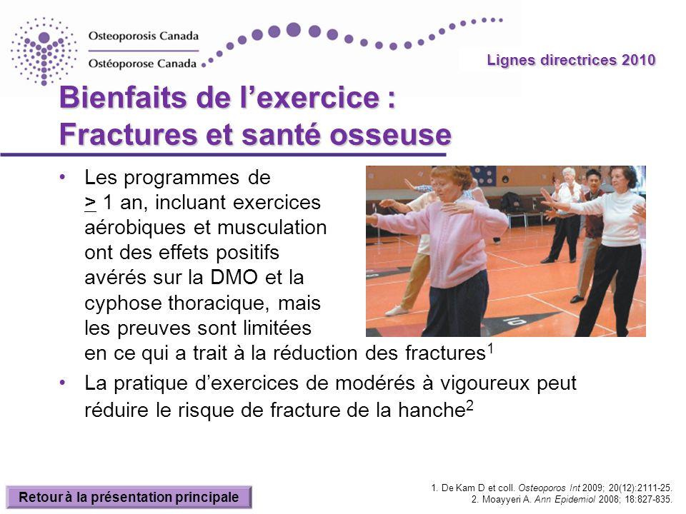 Bienfaits de l'exercice : Fractures et santé osseuse