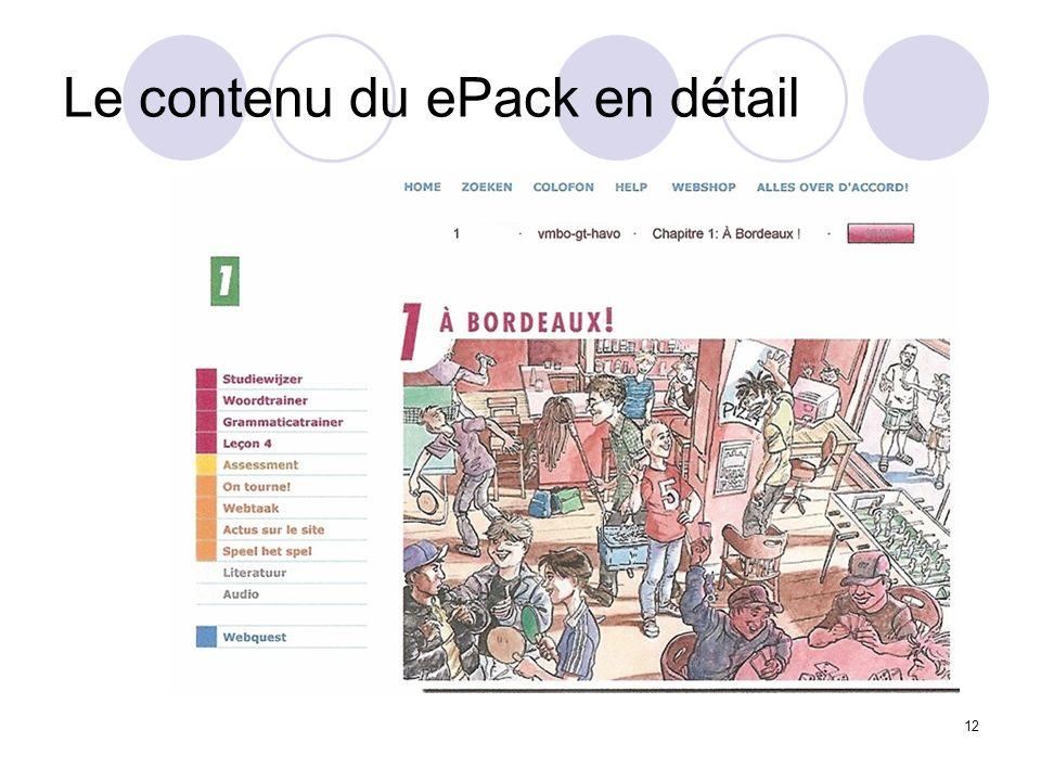 Le contenu du ePack en détail