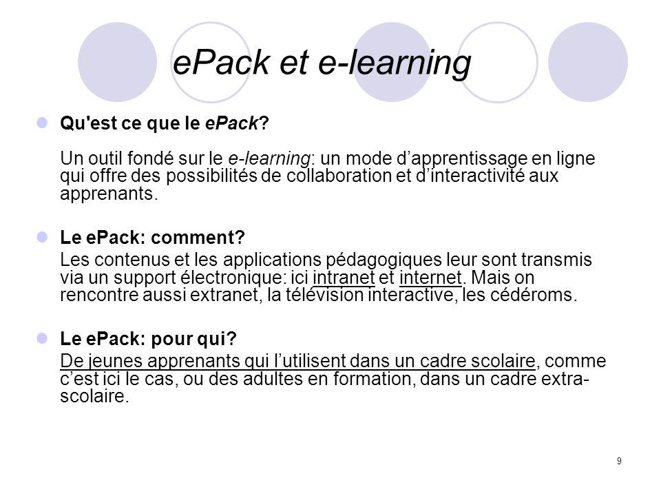 ePack et e-learning