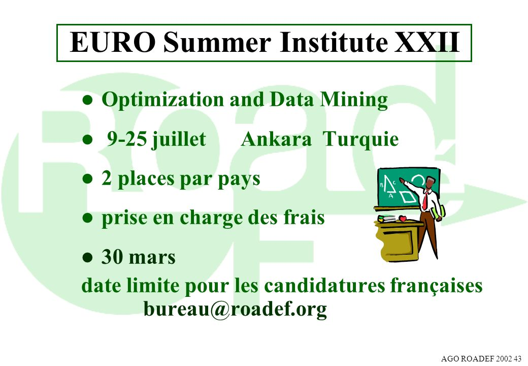 EURO Summer Institute XXII