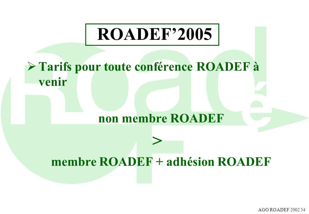 membre ROADEF + adhésion ROADEF