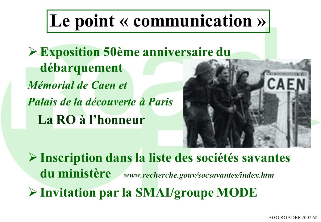 Le point « communication »