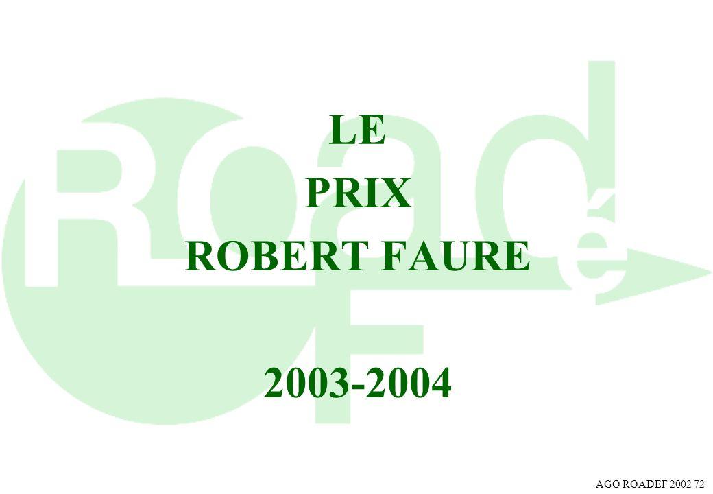 LE PRIX ROBERT FAURE 2003-2004