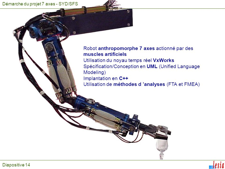 Robot anthropomorphe 7 axes actionné par des muscles artificiels