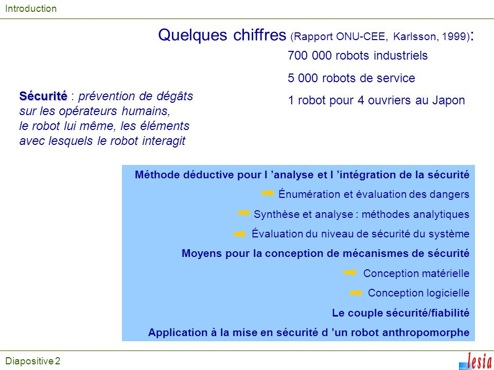 Quelques chiffres (Rapport ONU-CEE, Karlsson, 1999):