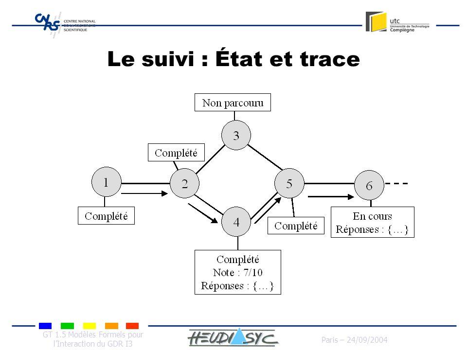 Le suivi : État et trace