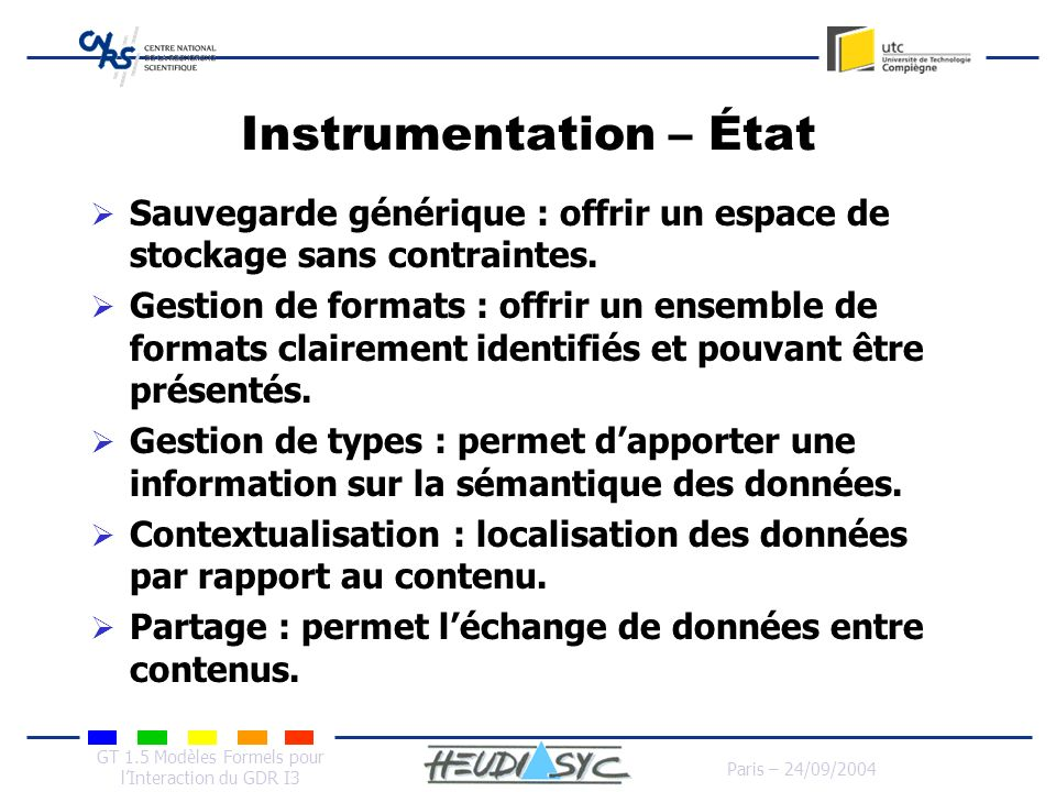 Instrumentation – État