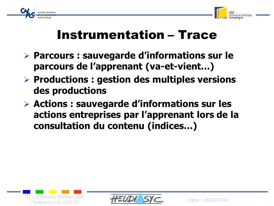 Instrumentation – Trace