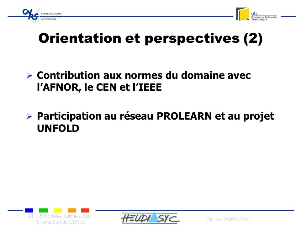 Orientation et perspectives (2)