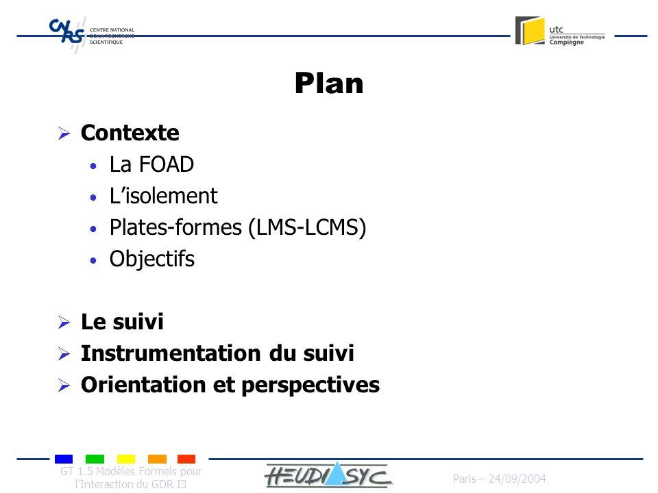 Plan Contexte La FOAD L'isolement Plates-formes (LMS-LCMS) Objectifs