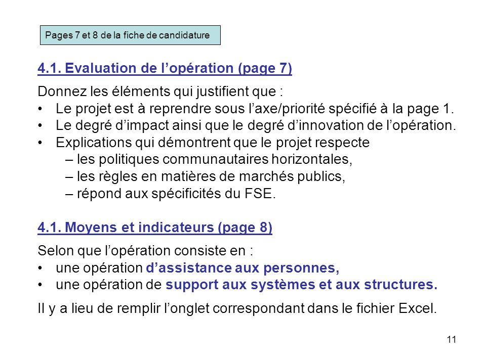 4.1. Evaluation de l'opération (page 7)