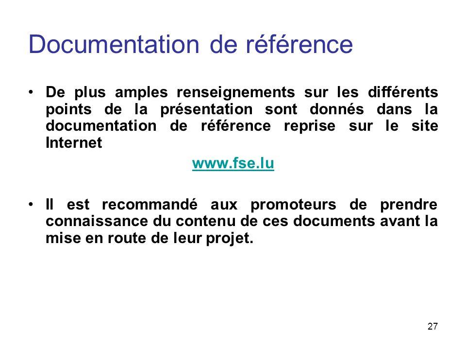 Documentation de référence