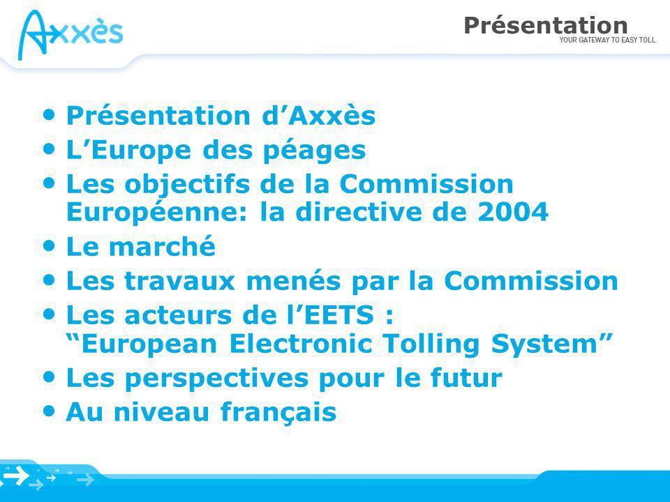 Les objectifs de la Commission Européenne: la directive de 2004