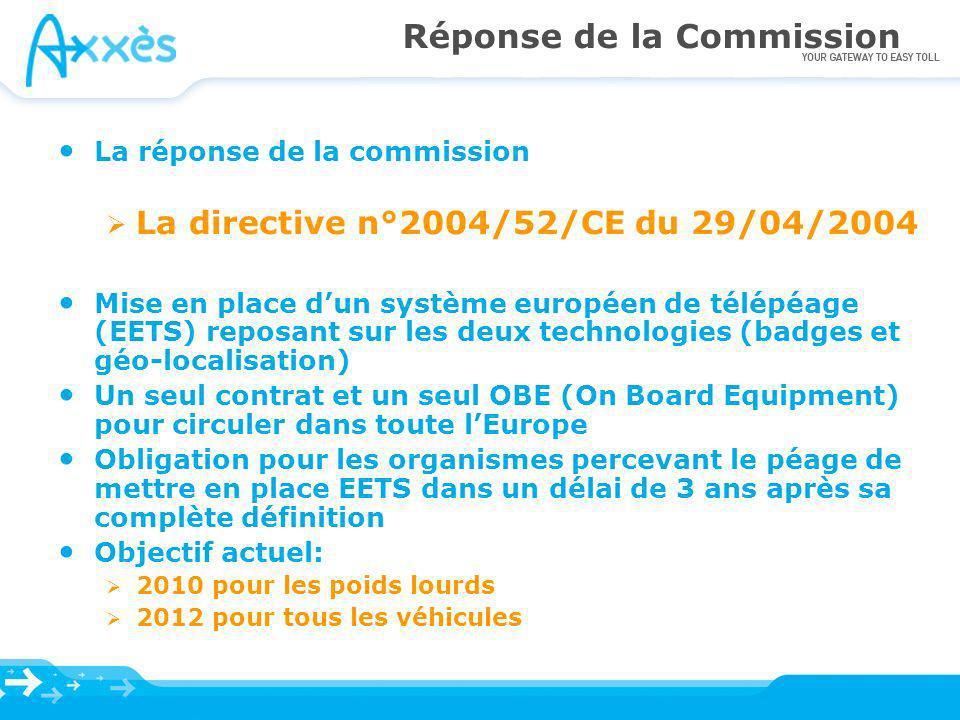 Réponse de la Commission