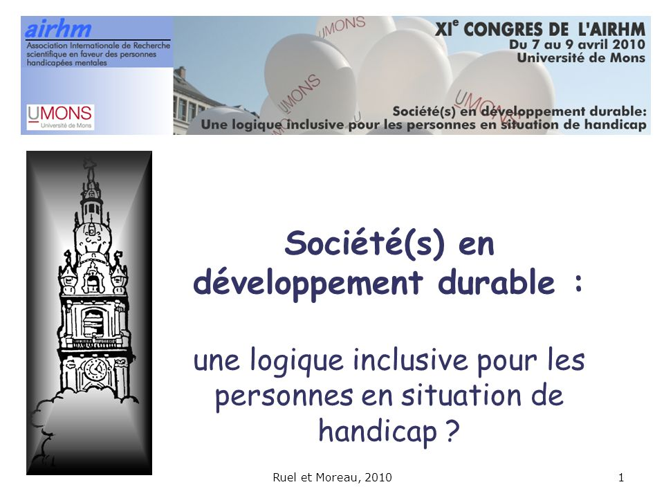 Société(s) en développement durable : une logique inclusive pour les personnes en situation de handicap