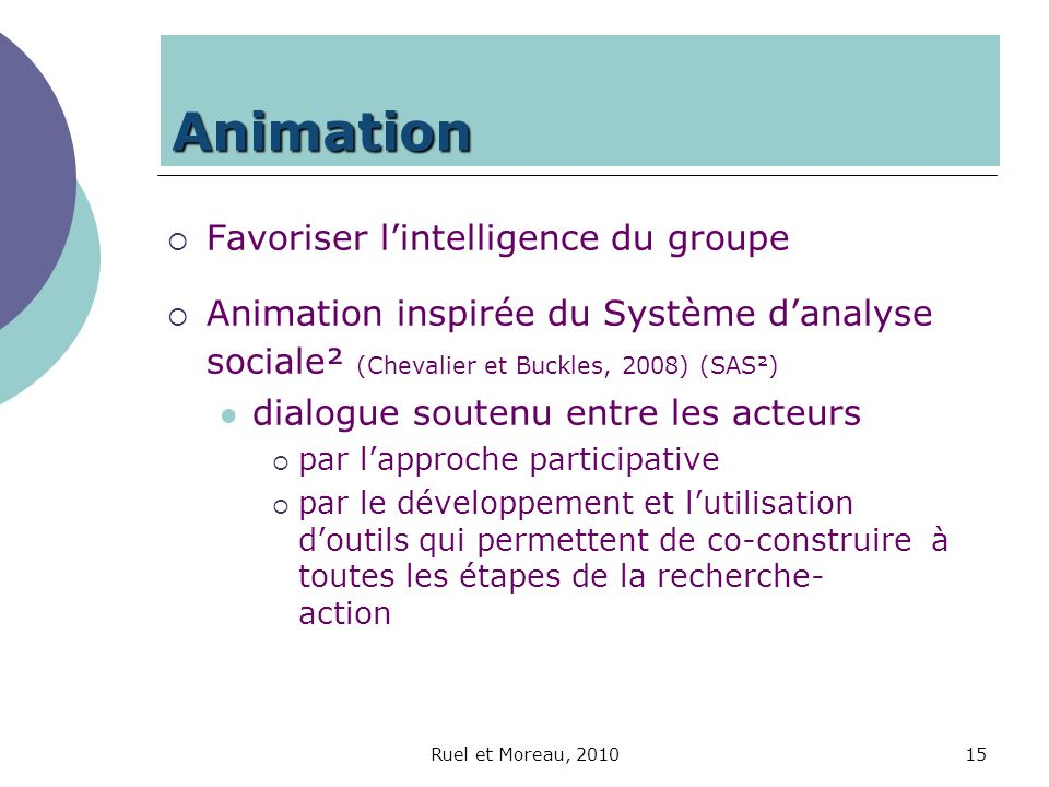 Animation Favoriser l'intelligence du groupe