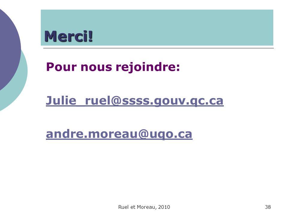 Merci! Pour nous rejoindre: Julie_ruel@ssss.gouv.qc.ca