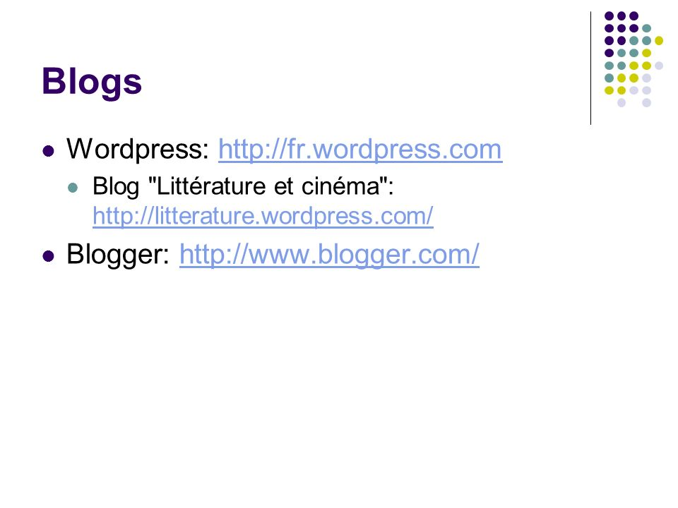 Blogs Wordpress: