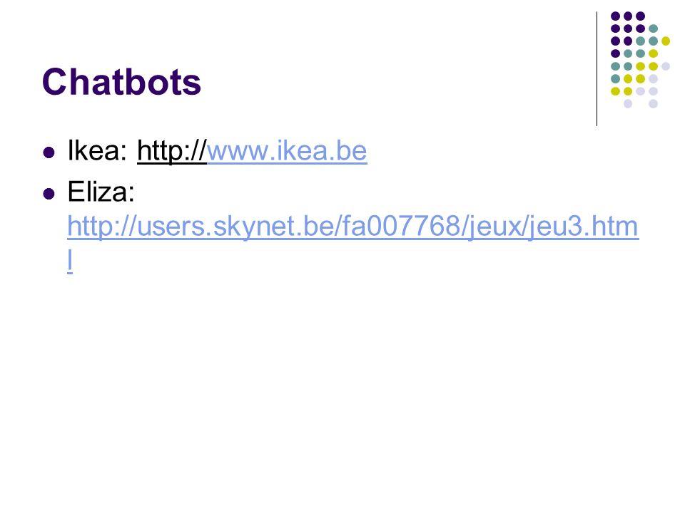 Chatbots Ikea: http://www.ikea.be