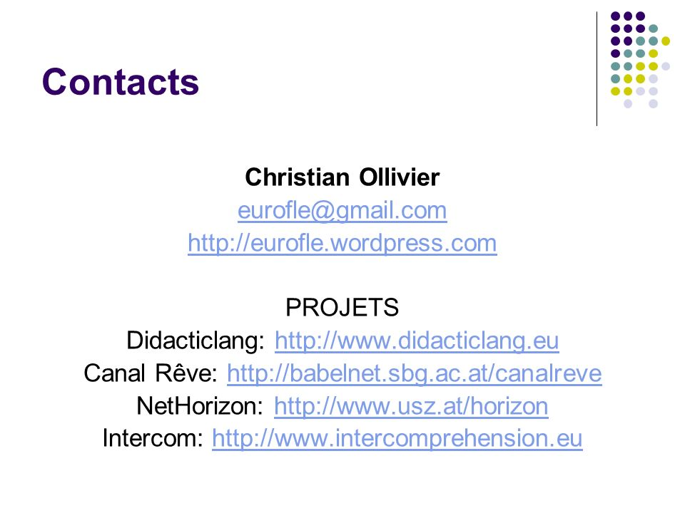 Contacts Christian Ollivier