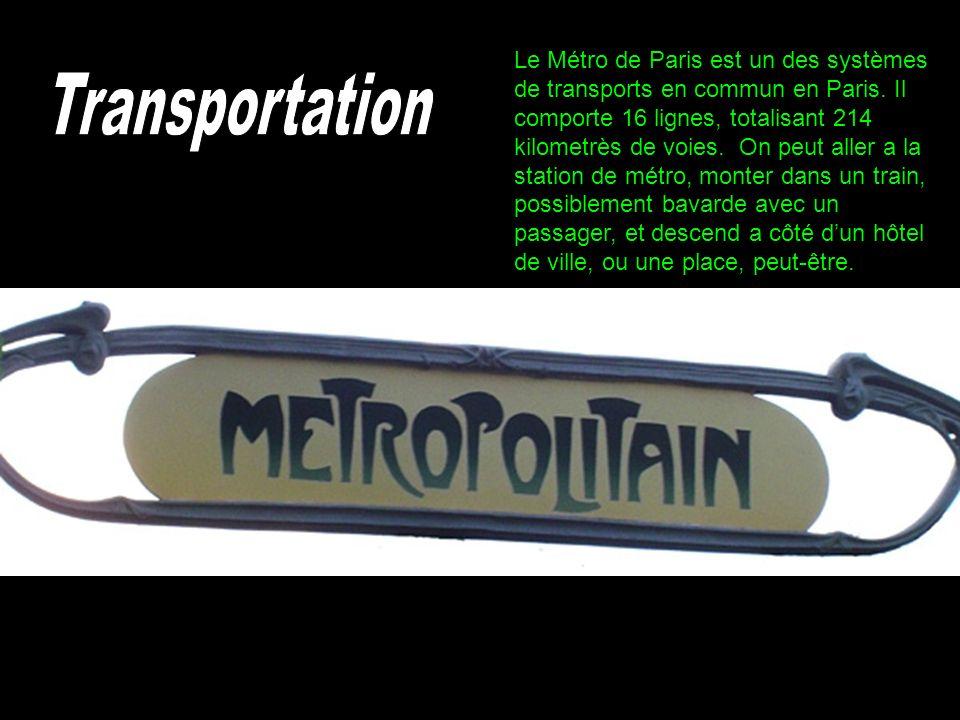 Le Métro de Paris est un des systèmes de transports en commun en Paris