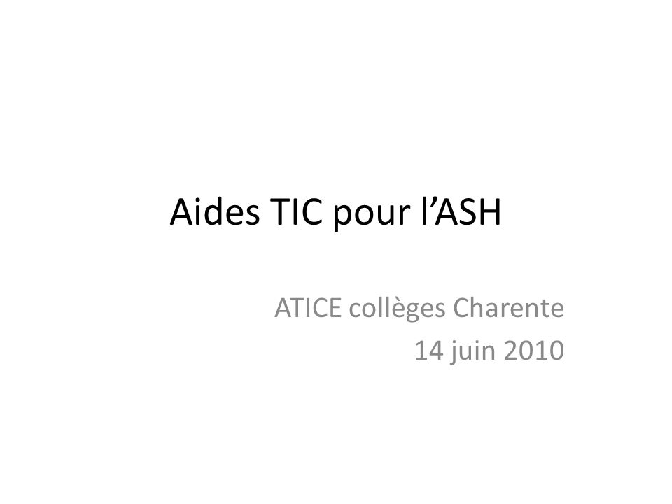 ATICE collèges Charente 14 juin 2010
