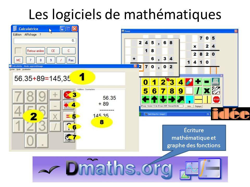 Les logiciels de mathématiques
