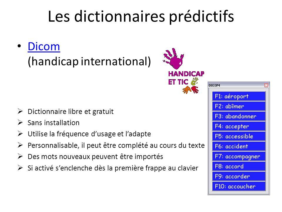 Les dictionnaires prédictifs