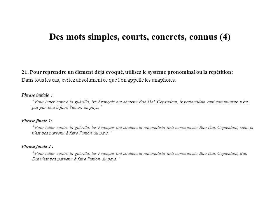 Des mots simples, courts, concrets, connus (4)