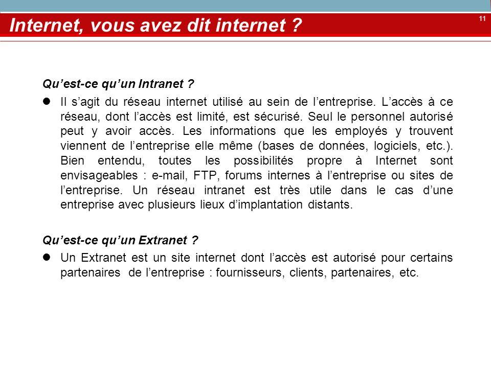 Internet, vous avez dit internet