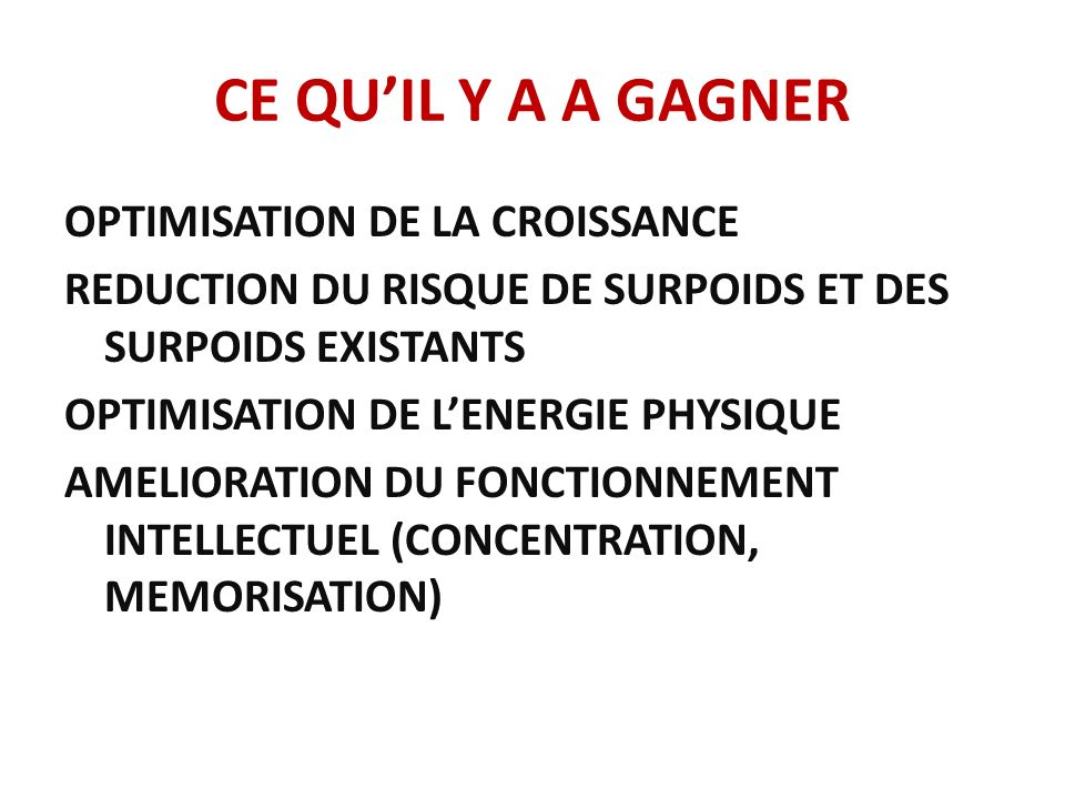 CE QU'IL Y A A GAGNER