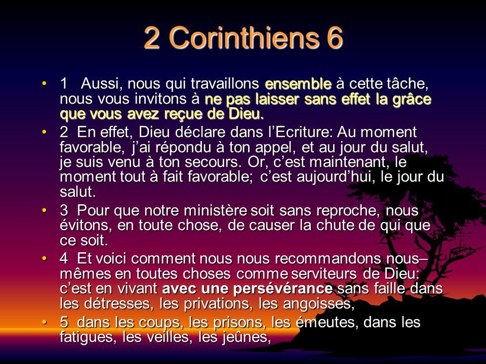 2 Corinthiens 6